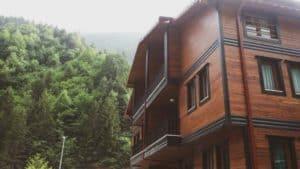 فندق خشبي بين الطبيعة