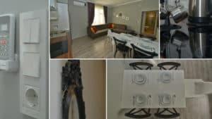 ادوات المطبخ وصورة من داخل شقق دعاء