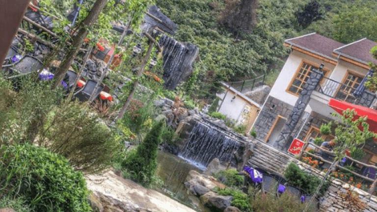 شلالات في مطعم خيال طرابزون