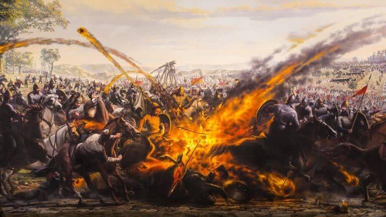 صورة لبانوراما فتح القسطنطنية من الداخل