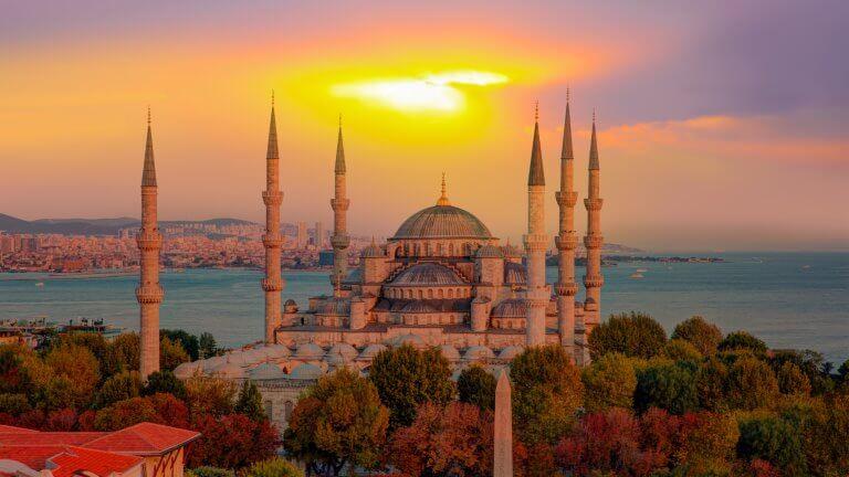 صورة للمسجد الازرق