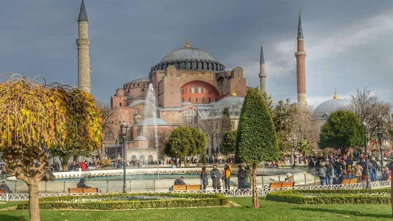صورة لجامع ايا صوفيا