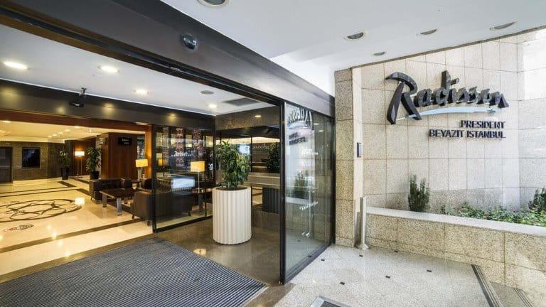 مدخل فندق راديسون بيازيد