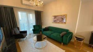 صالة شقة غرفتين وصالة للايجار في مول فينيسيا