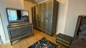 دولاب ملابس وغرفة نوم شقق فينيسيا اسطنبول