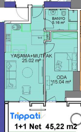 شقة للبيع في فينسيا 69 متر
