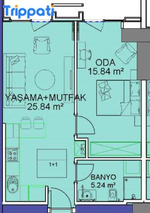 شقق للبيع في مجمع فينيسيا غرفة وصاة 76 متر