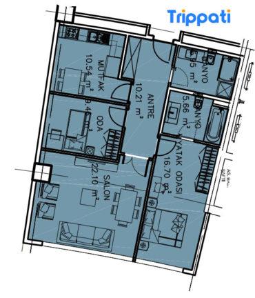 شقق للبيع غرفتين وصالة في مجمع فينيسيا