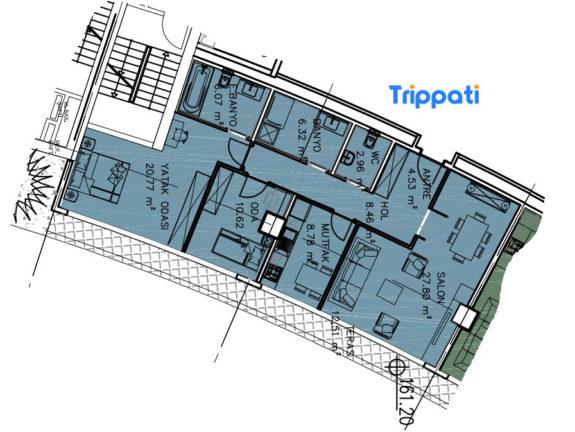 غرفتين وصالة للبيع في مول فينيسيا