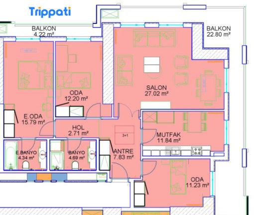 شقق للبيع 3 غرف وصالة في مول فينيسيا اسطنبول
