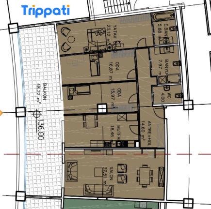 شقة مساحة كبيرة 3 +1 في فينيسيا مول