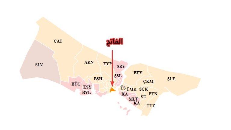 خريطة الفاتح - - أسعار الشقق في إسطنبول